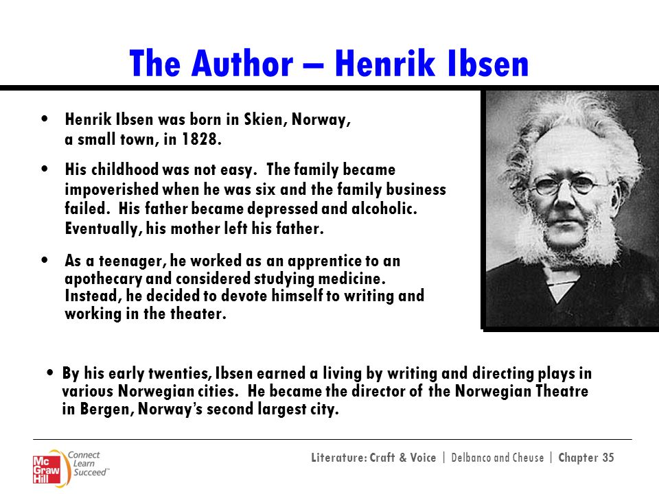 henrik ibsen his two aesthetics essay The henrik isben is one of the most dept discussion about henrik ibsen, the author and each one of his two other sources, wikipedia (entry on henrik.