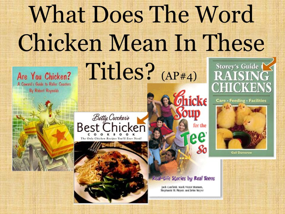 What Does The Word Chicken Mean In These Titles (AP#4)
