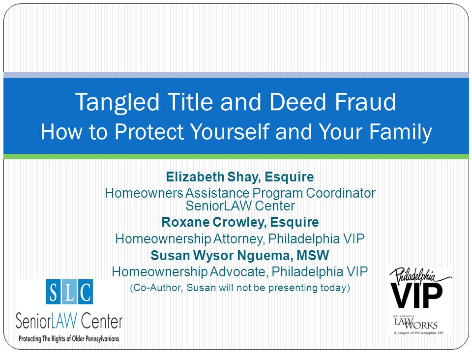 Tangled Title and Deed Fraud How to Protect Yourself and Your Family