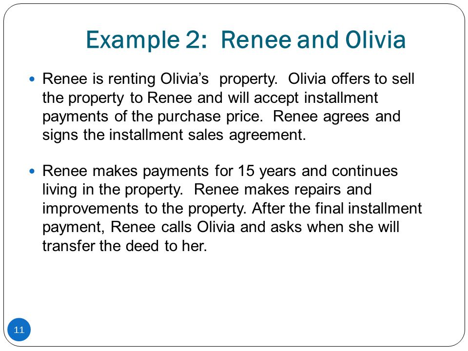 Example 2: Renee and Olivia