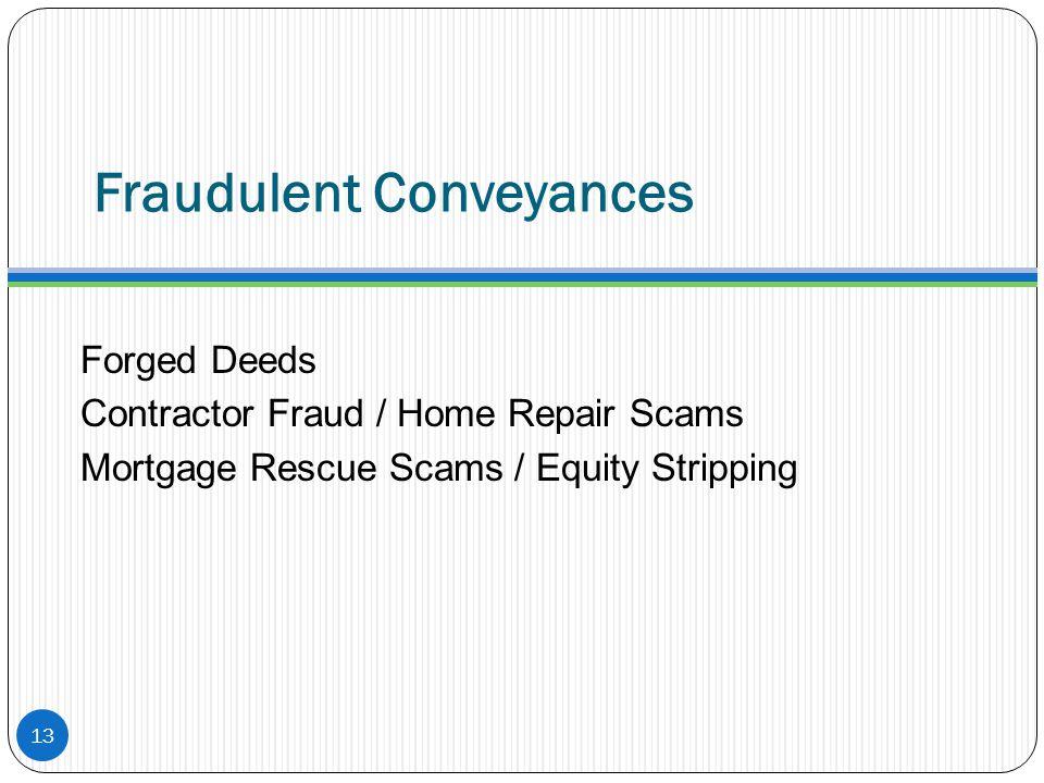 Fraudulent Conveyances