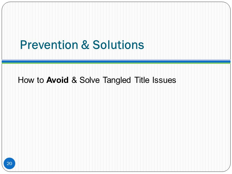 Prevention & Solutions