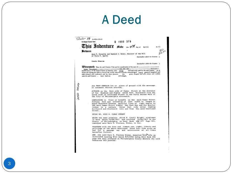 A Deed