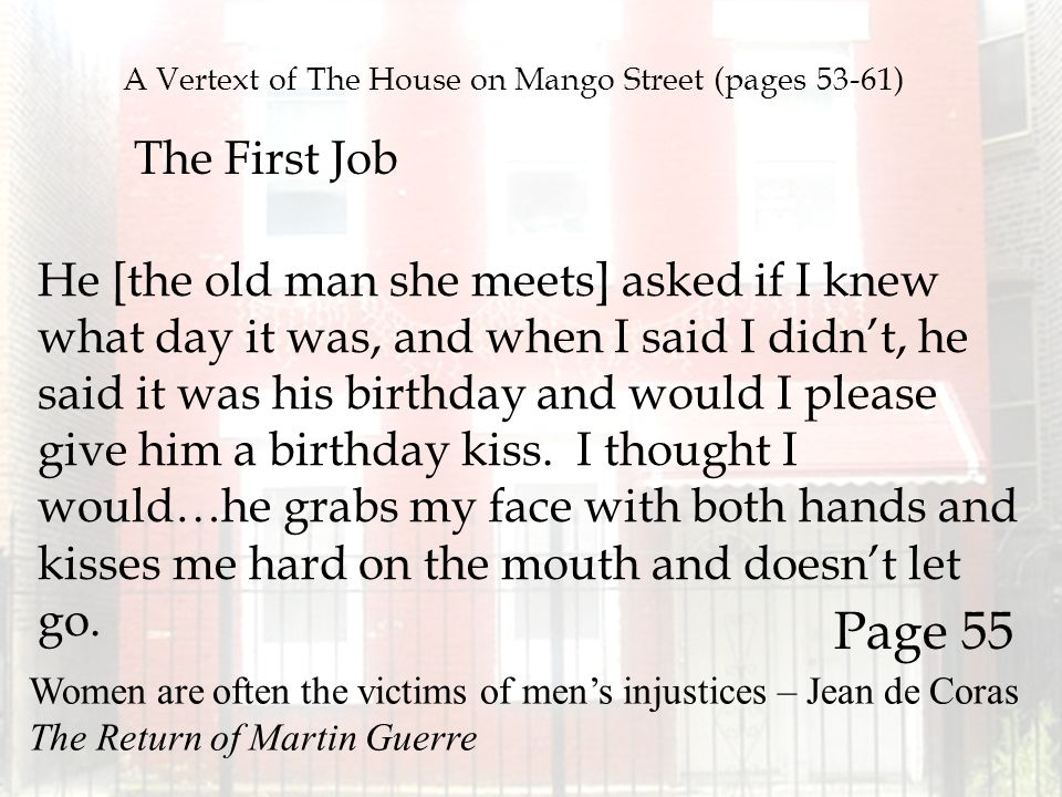A Vertext of The House on Mango Street (pages 53-61)
