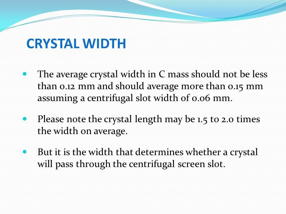 CRYSTAL WIDTH