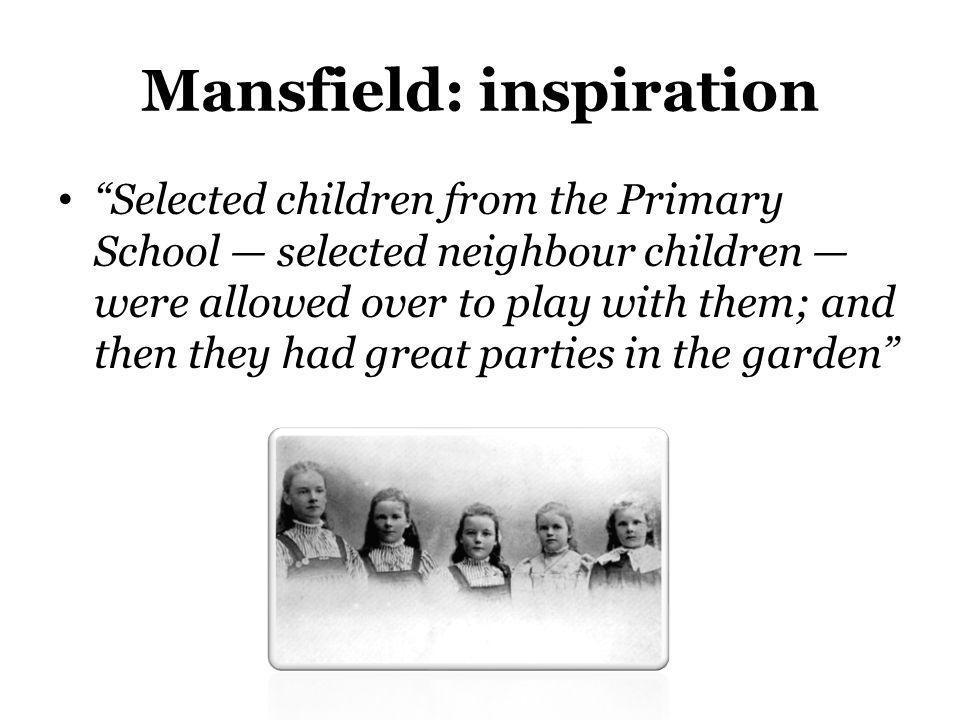 Mansfield: inspiration
