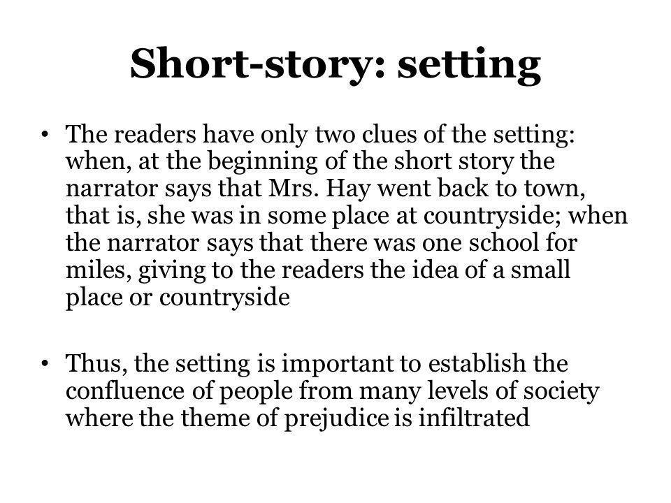Short-story: setting