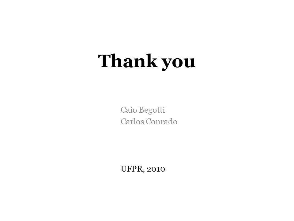 Caio Begotti Carlos Conrado UFPR, 2010