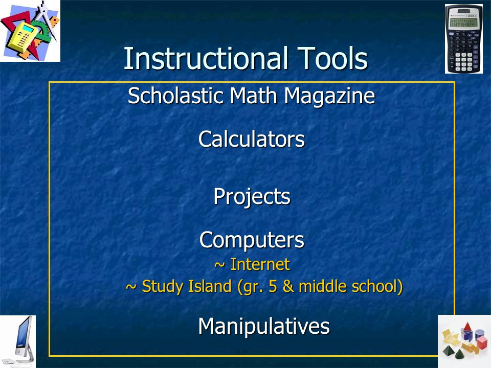 Instructional Tools Scholastic Math Magazine Calculators Projects