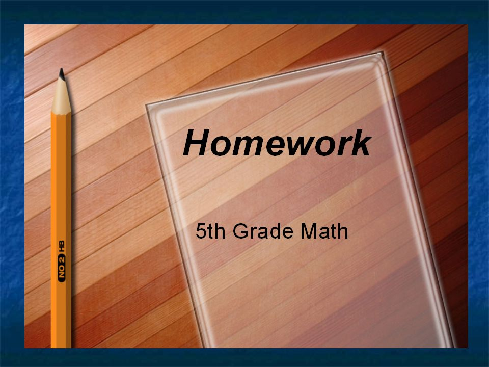 Homework 5th Grade Math Heidi