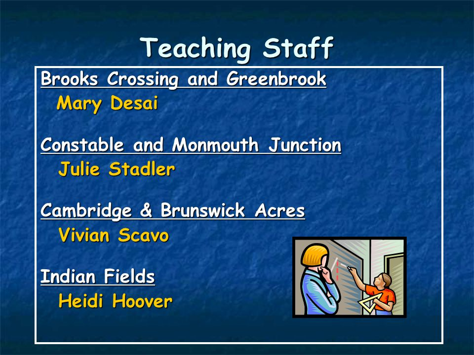 Teaching Staff Brooks Crossing and Greenbrook Mary Desai