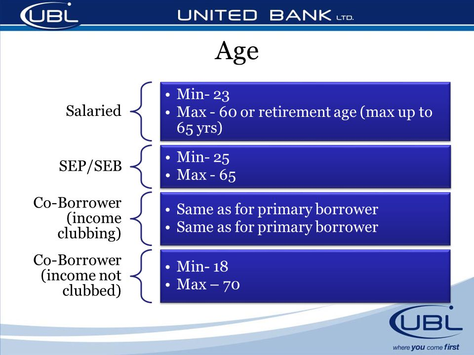 Age Salaried Min- 23 Max - 60 or retirement age (max up to 65 yrs)