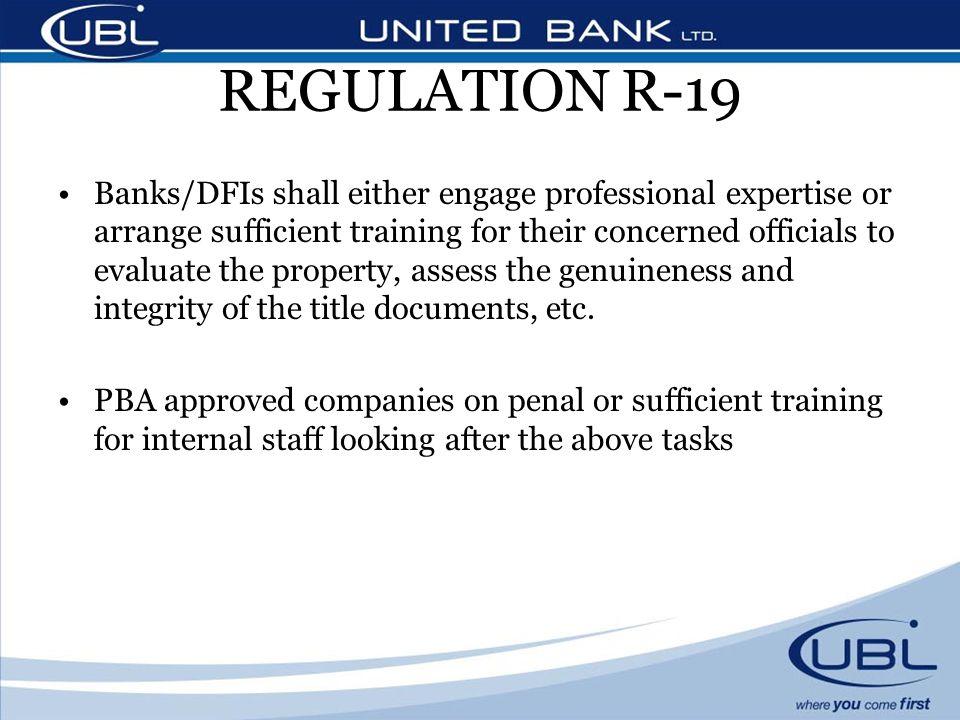REGULATION R-19