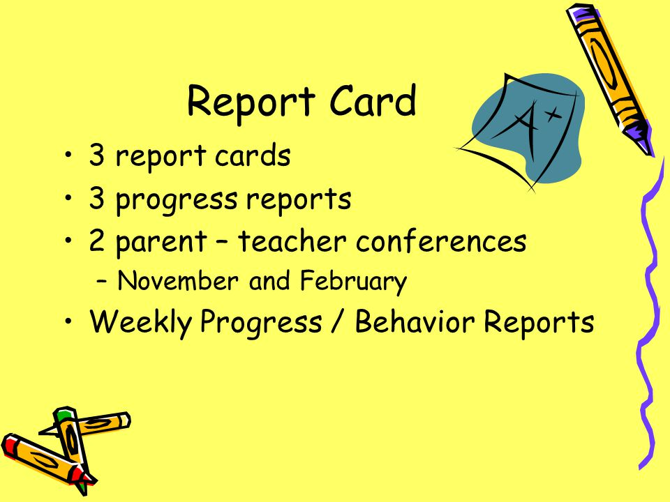 Report Card 3 report cards 3 progress reports