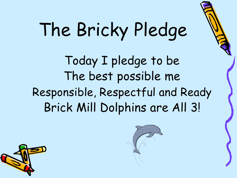 The Bricky Pledge The best possible me