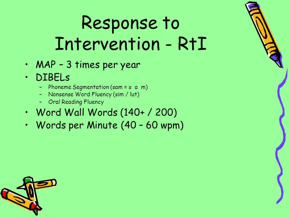 Response to Intervention - RtI