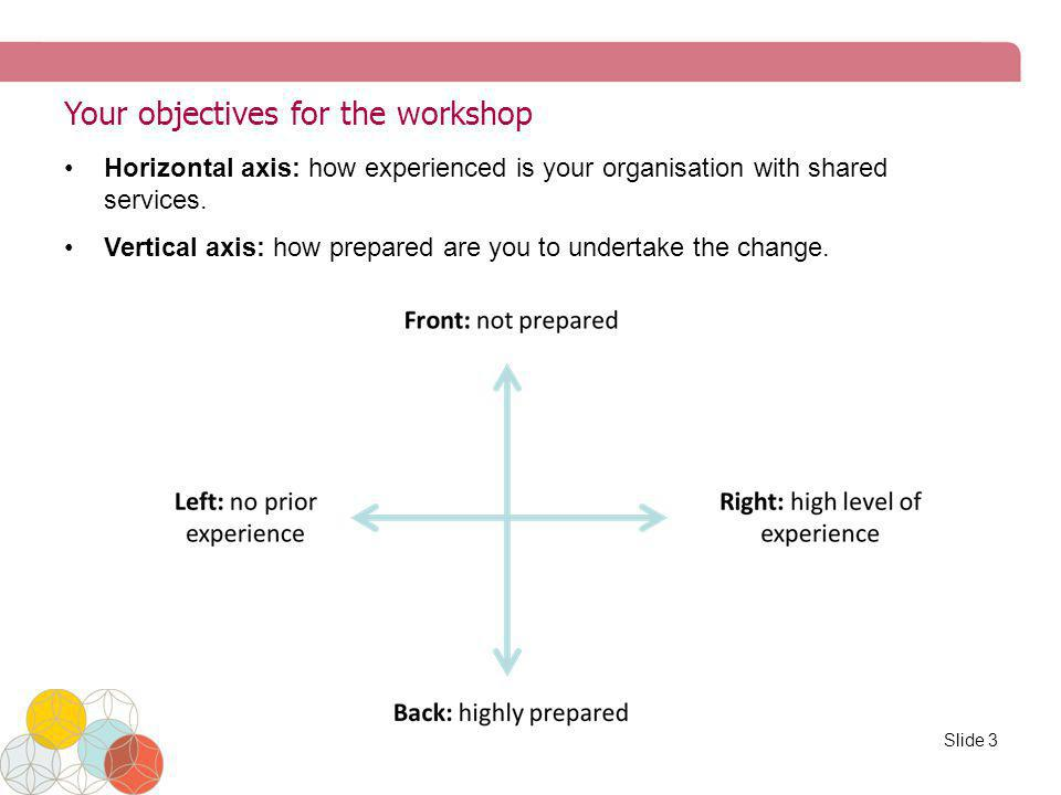 Your objectives for the workshop