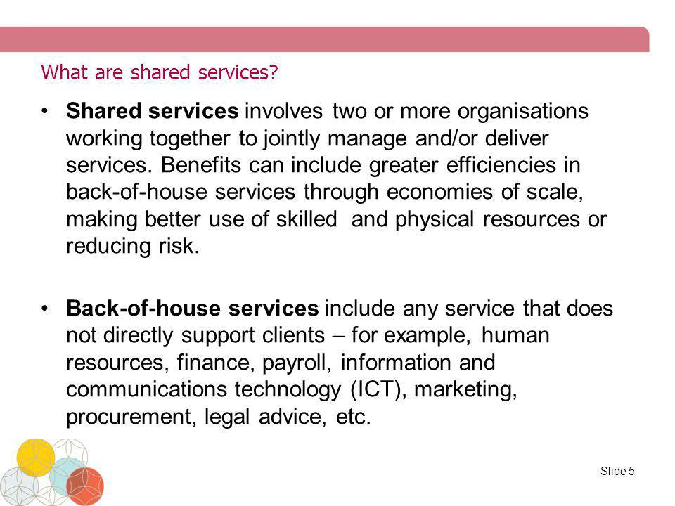 What are shared services