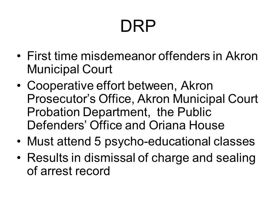 DRP First time misdemeanor offenders in Akron Municipal Court