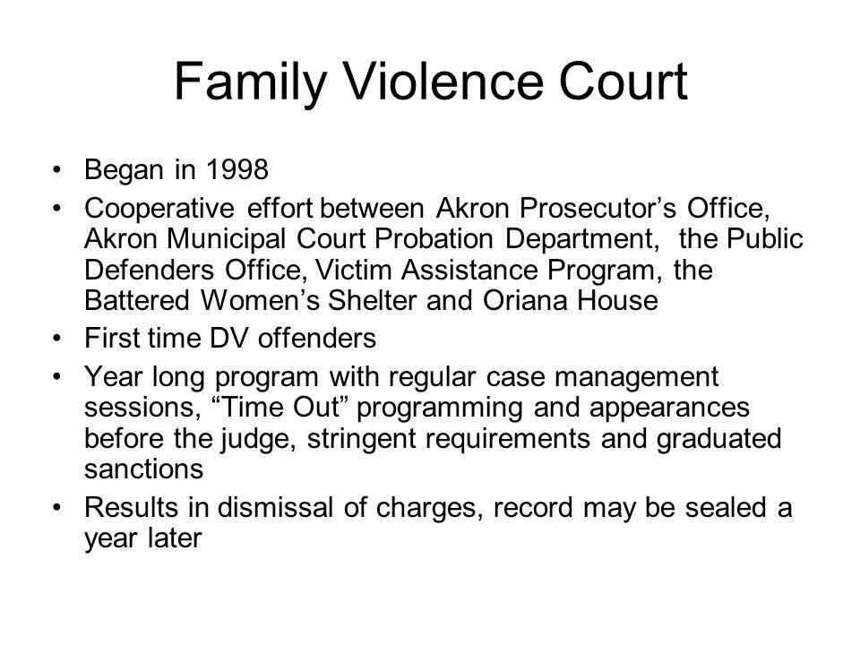 Family Violence Court Began in 1998