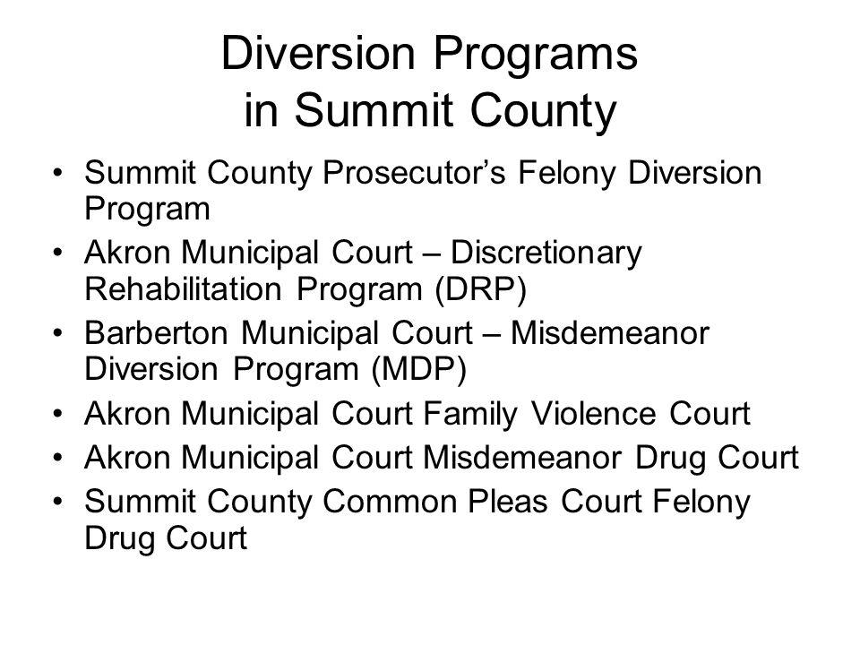 Diversion Programs in Summit County