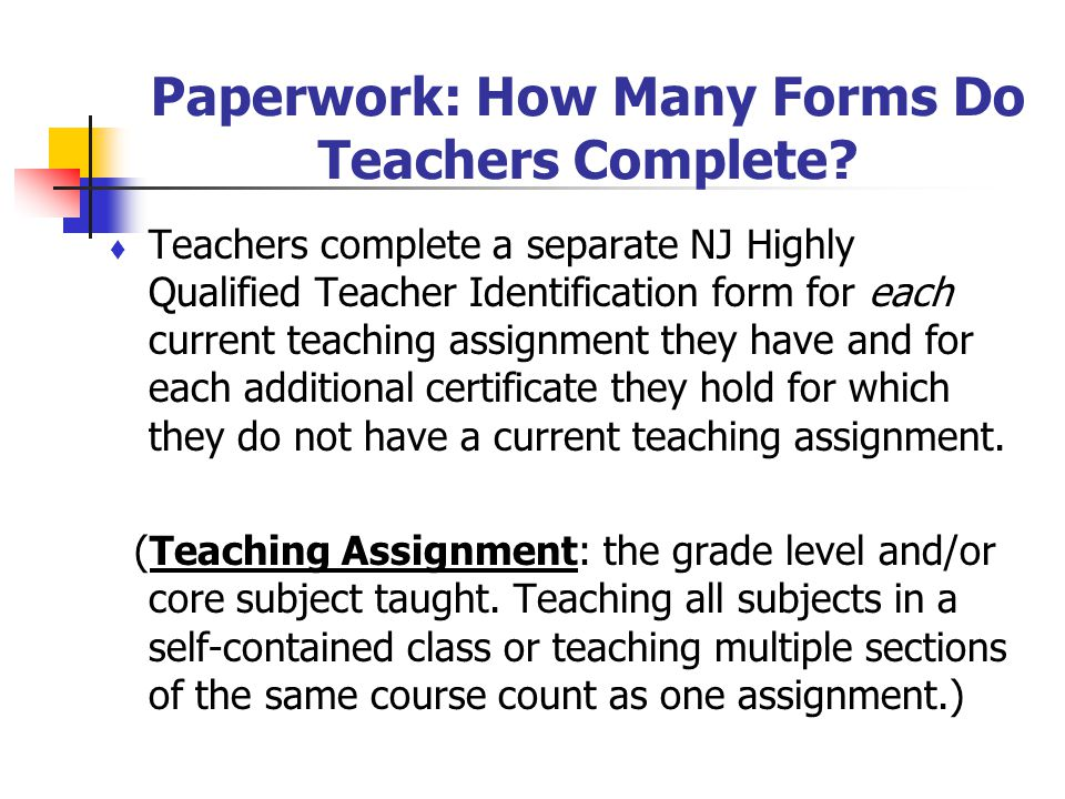 Paperwork: How Many Forms Do Teachers Complete