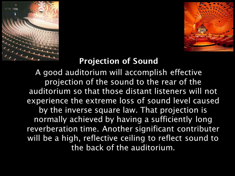 Projection of Sound