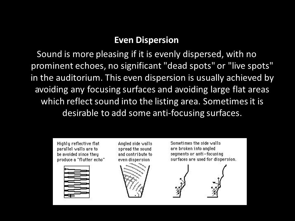 Even Dispersion