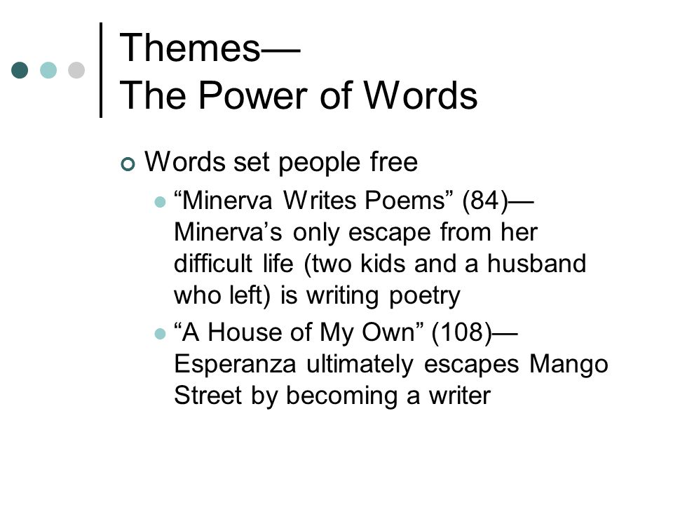 Themes— The Power of Words