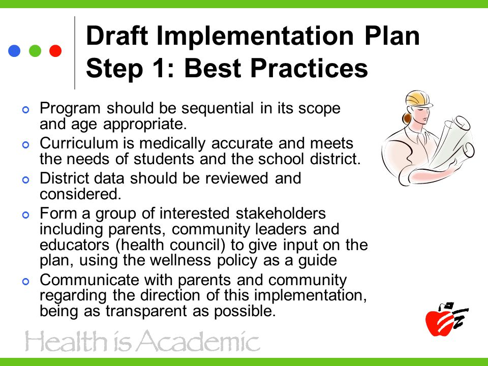 Draft Implementation Plan Step 1: Best Practices