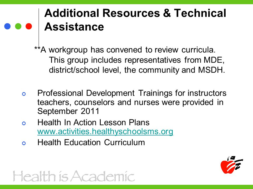 Additional Resources & Technical Assistance