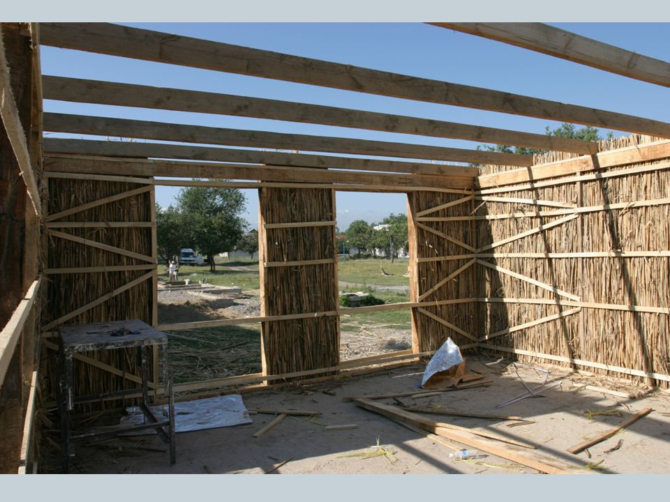 The walls of the house are then formed with layers of the cane reed