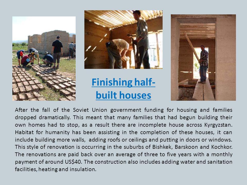 Finishing half-built houses