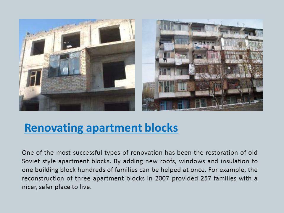 Renovating apartment blocks