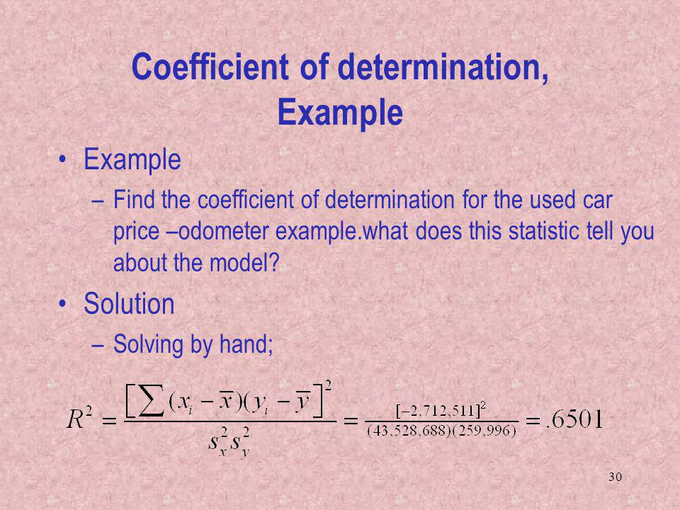 Coefficient of determination, Example