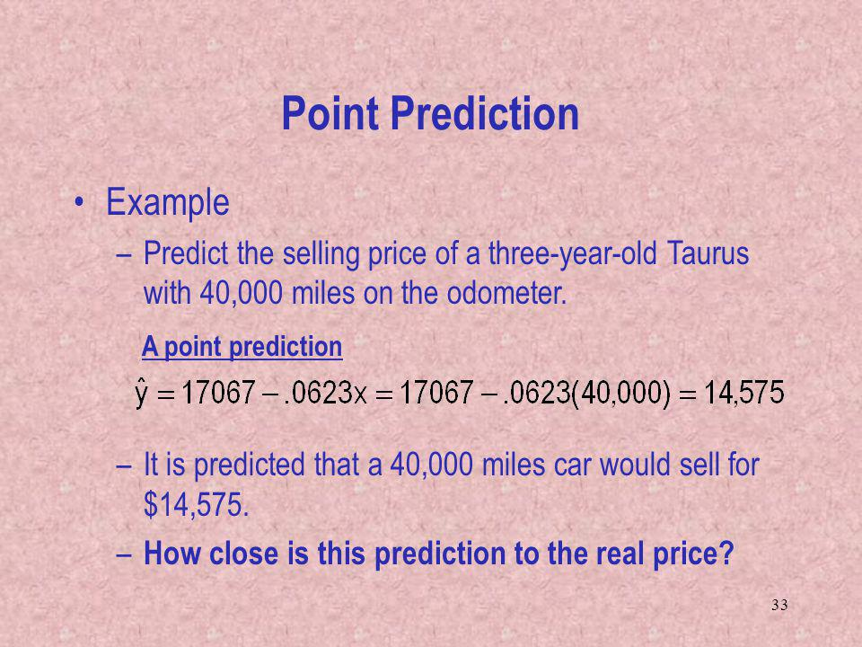 Point Prediction Example