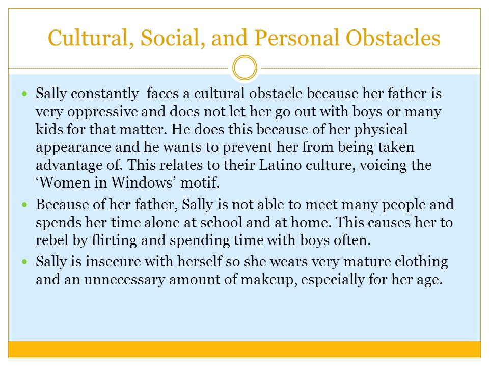 Cultural, Social, and Personal Obstacles