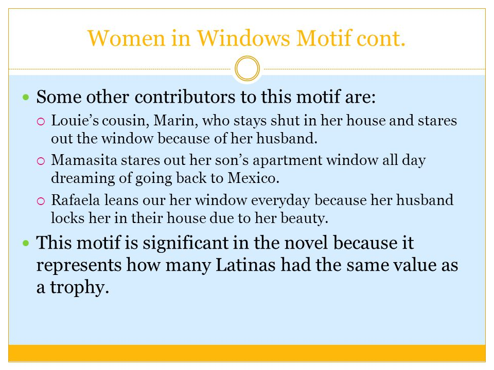 Women in Windows Motif cont.