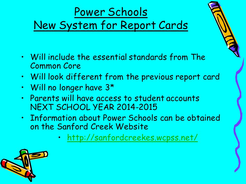 New System for Report Cards