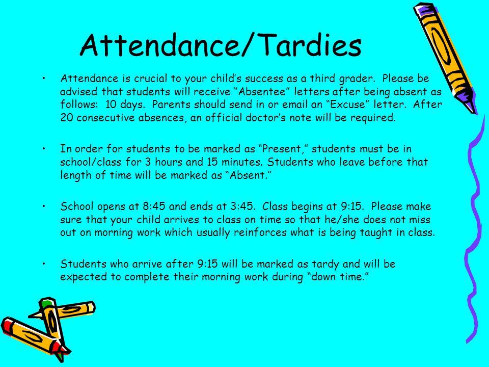 Attendance/Tardies