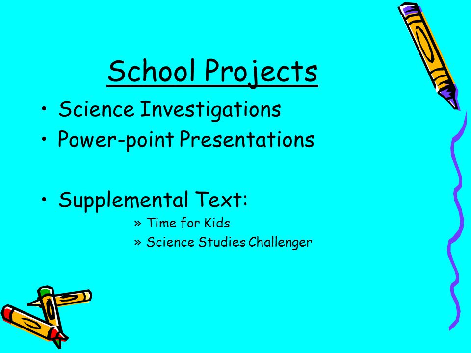 School Projects Science Investigations Power-point Presentations