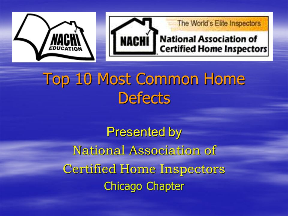 Top 10 Most Common Home Defects