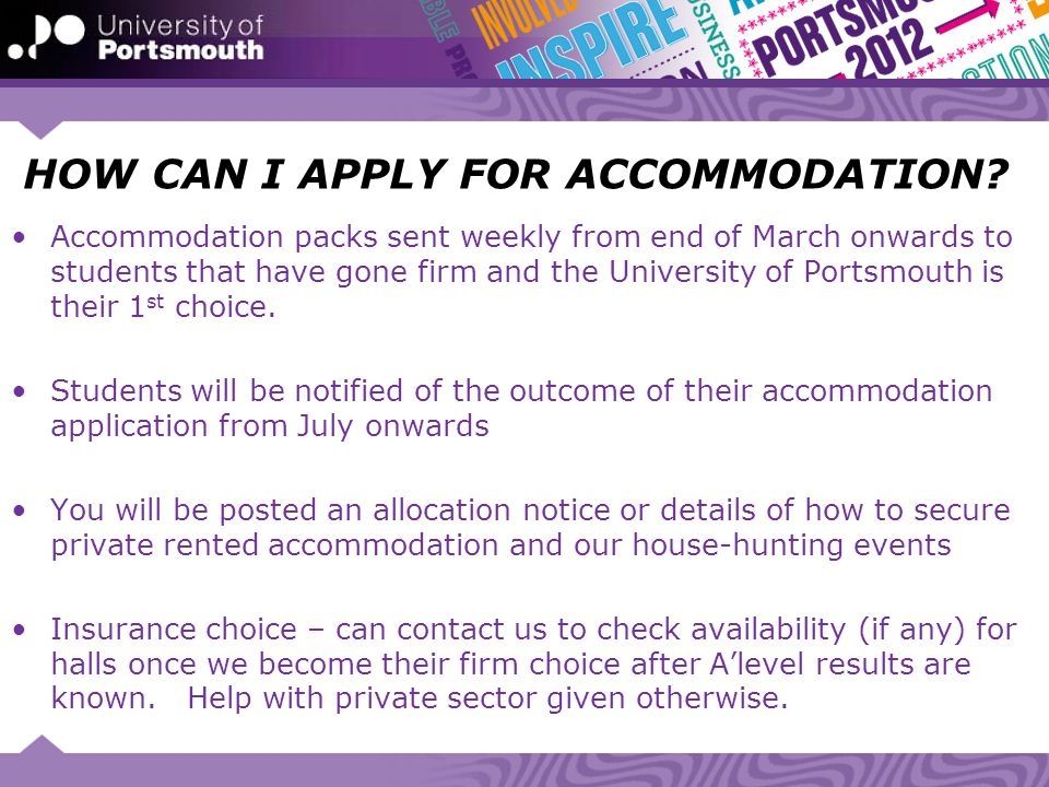HOW CAN I APPLY FOR ACCOMMODATION