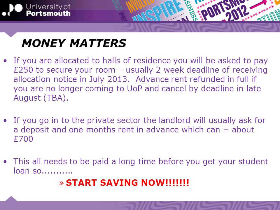 MONEY MATTERS START SAVING NOW!!!!!!!