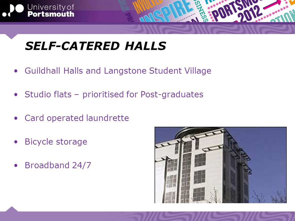 SELF-CATERED HALLS Guildhall Halls and Langstone Student Village