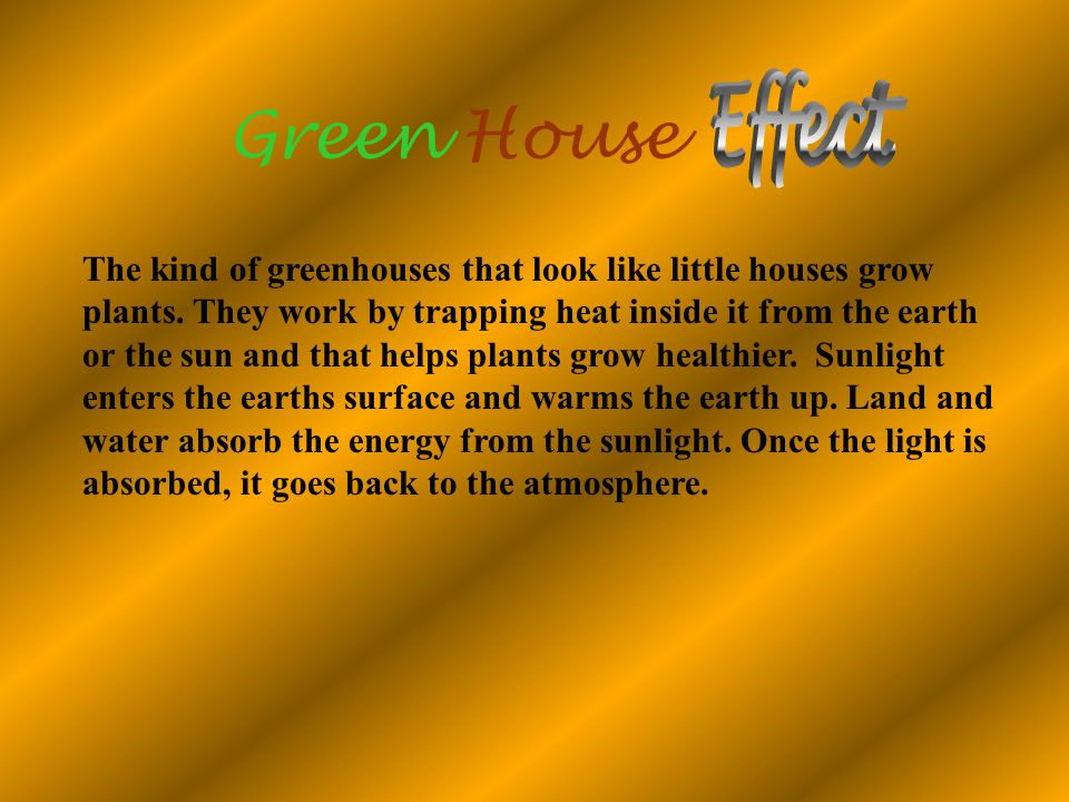 Green House Effect.
