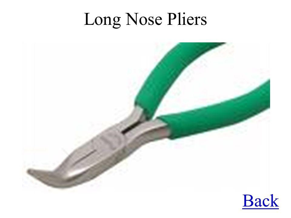 Long Nose Pliers Back