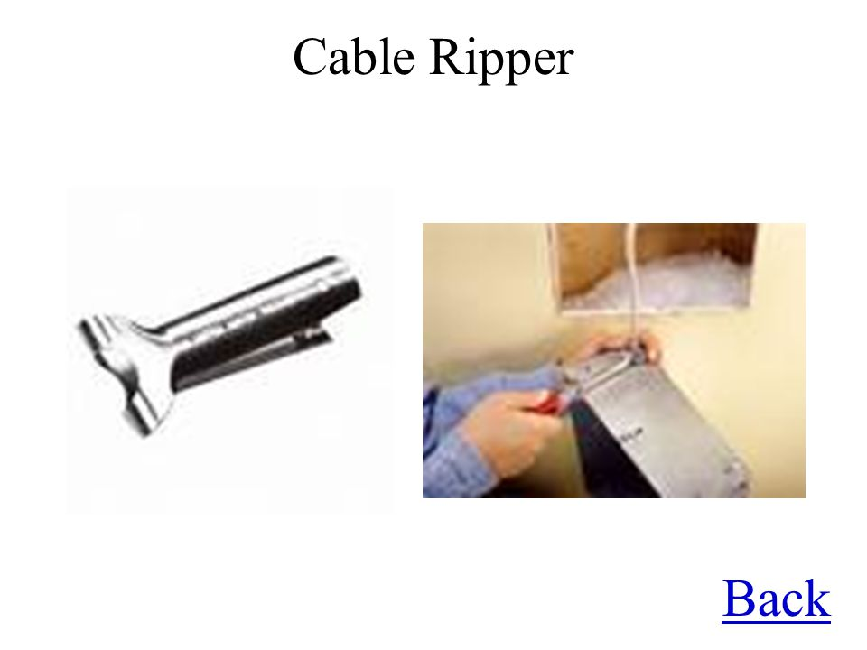 Cable Ripper Back
