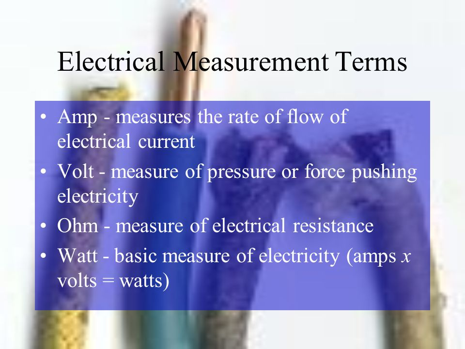 Electrical Measurement Terms