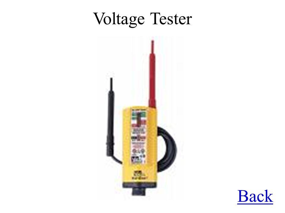 Voltage Tester Back